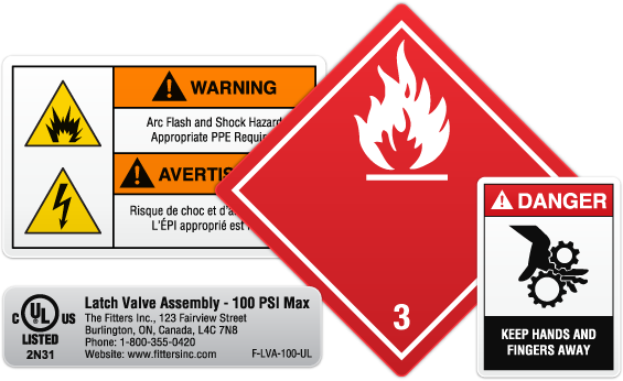 Safety Hazard Warning Labels